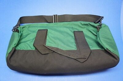 Fleming Oxygen Bag Green Clamshell Zipper 21 in x 8.5 in x 8.5