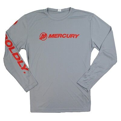Mercury Marine Go Boldly L/S Competitor Tee - Silver
