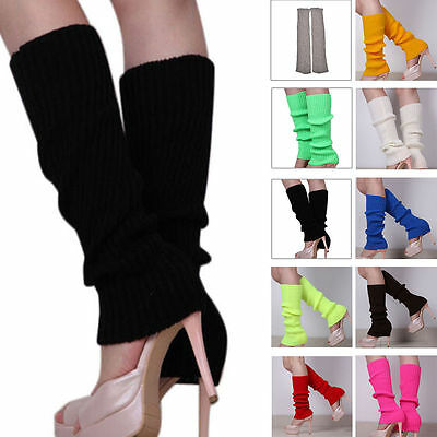 Women 80s Fashion Leg Warmers Knitted Neon Dance Costume 1980s Leg Warmer