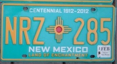 NEW MEXICO CENTENNIAL  Land of Enchantment  license plate  NRZ 285