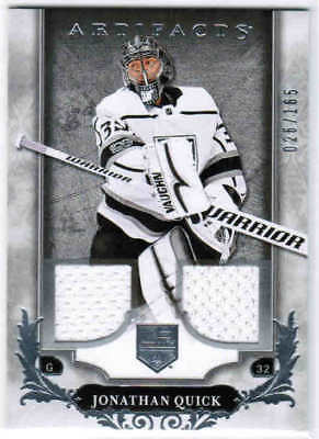 18/19 2018 UD ARTIFACTS HKY BASE DUAL JERSEY SILVER CARDS 1-100 U-Pick From List