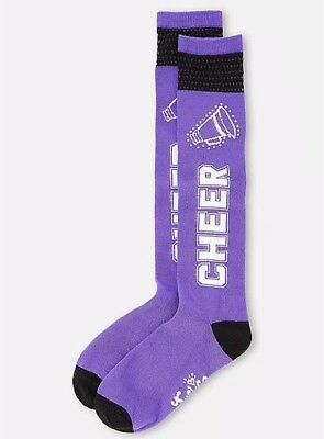 Justice Girl's CHEER Mesh Knee High Socks Size Large 5-9 New with Tags