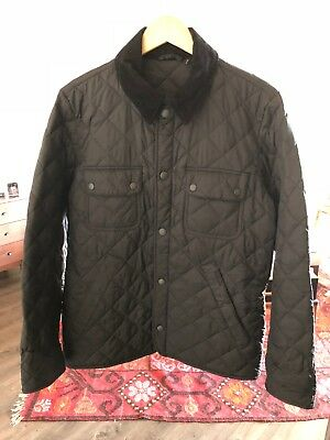 Barbour Tinford Quilted Men's Classic Jacket Black SZ S