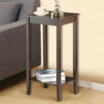 Tall Wood Side End Coffee Table Bedside Nightstand Tables
