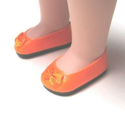 Doll Shoes Wellie Wishers 50//25mm NEW ORANGE Slip-ons fit P90 Toni