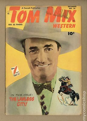 Tom Mix Western (Fawcett) #24 1949 GD 2.0