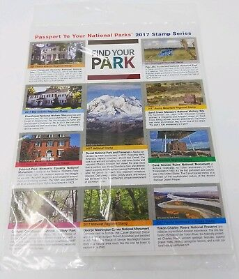 10 National Parks Passport Series Stamps 2017