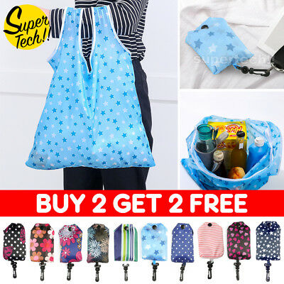 10 Colours Reusable Foldable Shopping Bags Eco Grocery Bag Storage Tote Handbags