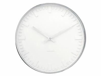 Karlsson Mr. White Station Steel Wall Clock Wall Clock DAMAGED PACKAGING