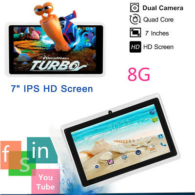 """7"""" Inch Android Tablet 8GB Quad Core Dual Camera Bluetooth Wifi wireless Tablet"""
