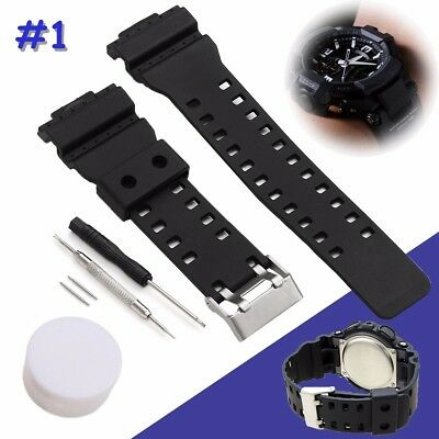 Watch Strap Band & Pins For Casio G Shock 16mm GA-100 G-8900 GW-8900
