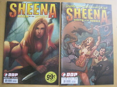 SHEENA : BUNDLE of 3 COMICS  : DDP 2007 SPECIAL, DDP issue 3, DYNAMITE issue 8