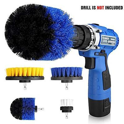 Drill Brush Set 4 Piece Power Scrubber Drill Brush Cleaning Kit for Bathroom