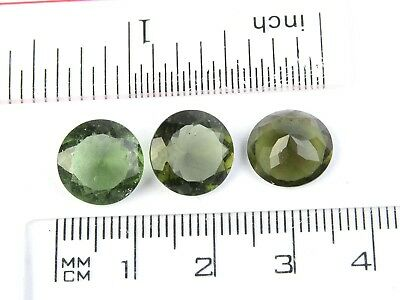 0.62-0.65g round 11mm STANDARD CUT moldavite faceted cutted gem BRUS1817