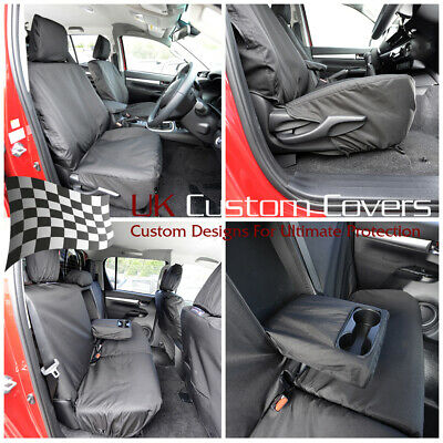 Toyota Hilux Icon & Invincible 2018 On Tailored Front Rear Seat Covers - 260 261