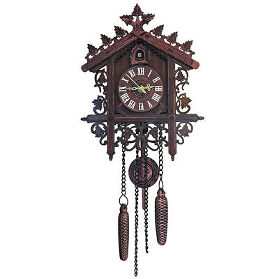 Decorative Wood Wooden Cuckoo Wall Clock for Home Decoration Creative Gift#1