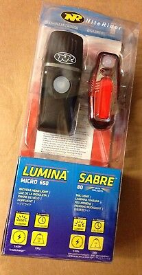 Niterider Lumina USB Micro 650 / Sabre 80 Light Set BIG lumens rechargeable USB