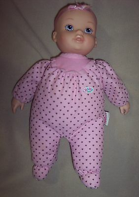"MGA Baby Born Zapf 13"" Cloth Vinyl Lovey Doll GUC"