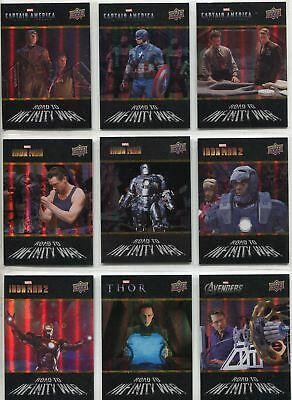 Avengers Infinity War Complete Road To Infinity Chase Card Set RTW1-40