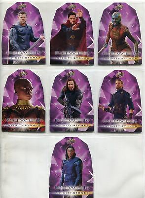 Avengers Infinity War Complete Die Cut Chase Card Set PP1-7