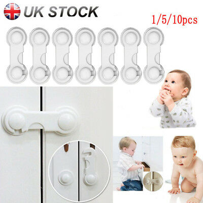 Plastic Safety Door Lock Baby Cabinet Drawer Child Kids Fridge Drawers Wardrobe