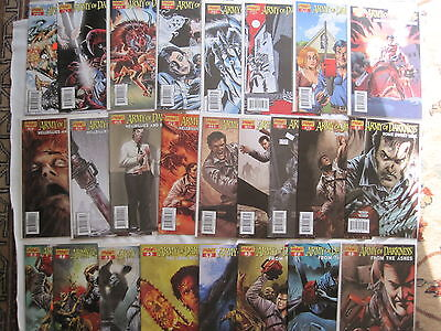 ARMY of DARKNESS : COMPLETE RUN of ISSUES 1 - 25. ASH. DYNAMITE 2007 SERIES