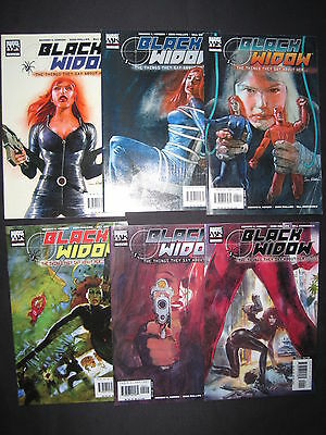 """BLACK WIDOW : """"The THINGS THEY SAY ABOUT HER"""" : COMPLETE 6 ISSUE SERIES. MK.2005"""