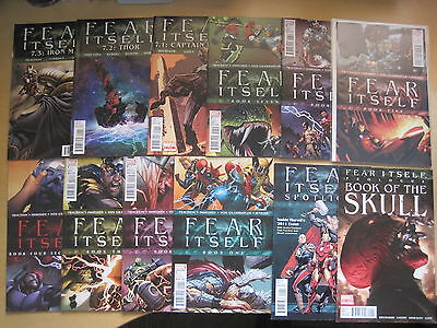 FEAR ITSELF : COMPLETE 12 ISSUE PACKAGE by FRACTION & BRUBAKER. MARVEL.2011