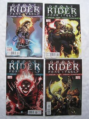 """Ghost Rider """"FEAR ITSELF"""" :complete 4 issue series by WILLIAMS,CLARK.MARVEL.2011"""