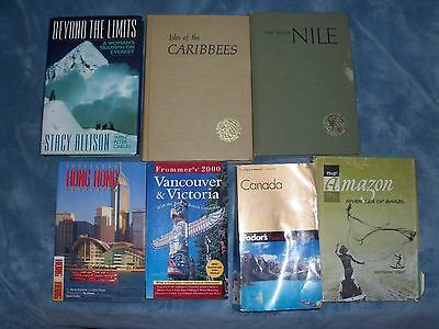 7 books on travel adventure places. Free shipping