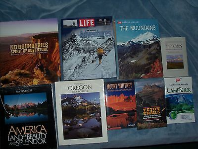 9 books on nature camping hiking adventure. Free shipping