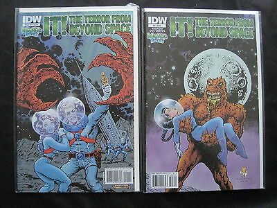 IT ! The TERROR FROM BEYOND SPACE : COMPLETE 2 ISSUE SERIES. HORROR MOVIE. 2010