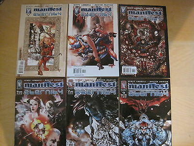 MANIFEST ETERNITY : COMPLETE 6 ISSUE SERIES by LOBDELL & NGUYEN. WILDSTORM. 2006