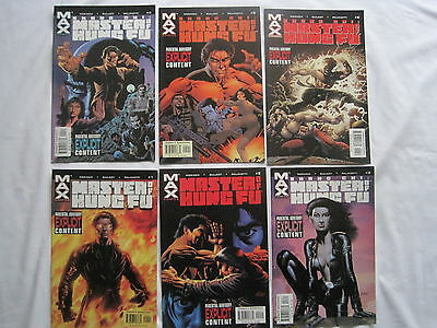 Master Of Kung Fu : Complete 6 Issue Series. Explicit Content. Marvel Max.2002