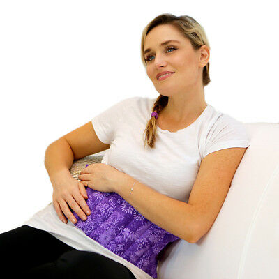 Stomach Heating Pad for Menstrual Cramps Pain- Nature Creation (Purple Flowers)