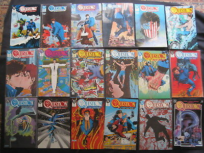 The QUESTION : COMPLETE  36 ISSUE, 1986 DC SERIES by O'NEIL, COWAN etc. VFN-NM