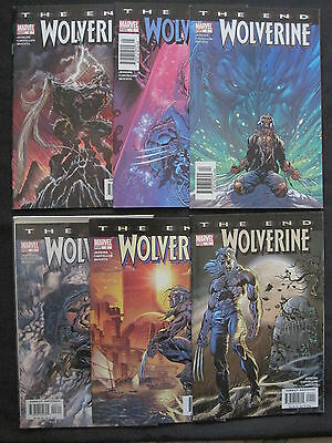 """WOLVERINE : """"The END"""" complete 6 issue series by JENKINS,CASTELLINI. MARVEL.2004"""