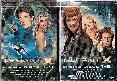 New! MUTANT X Season 2: Vols. 1-2 & 3-4 DVD Sets Sci-fi Action TV FREE SHIPPING!