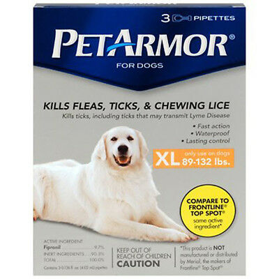 PetArmor Flea & Tick Topical Treatment XL Extra Large Dogs (89-132 LBS) 3 Months