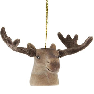 "Kaemingk 3.5"" Brown Moose Head with Large Antlers Christmas Ornament"