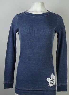 Toronto Maple Leafs Women s Touch Blue Thermal Style Long Sleeve T-Shirt NHL d05d38ac5