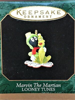 Hallmark 1998 MARVIN THE MARTIAN w/ K-9 - LOONEY TUNES Miniature MINI Ornament
