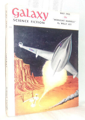 GALAXY SCIENCE FICTION May 1955 Pulp Digest Willy Ley Mark Clifton Emsh Art
