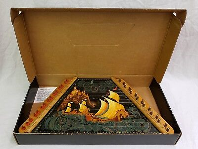 The Gusli Handpainted Russian Design Lap Harp⭐️Complete in Box with Song Sheets