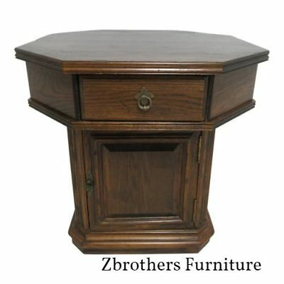 Ethan Allen Lamp End Table Night Stand Cabinet Royal Charter Oak Jacobean
