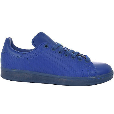 adidas Originals Mens Stan Smith Adicolor Casual Lace Up Trainers Shoes - Blue
