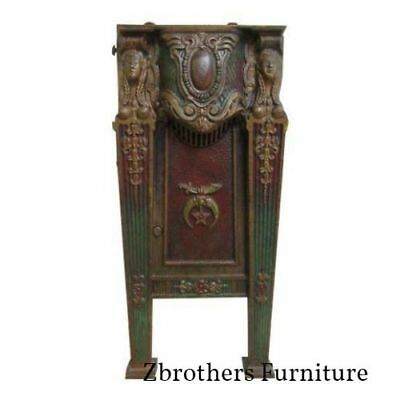 Victorian Mason Masonic Architectural Salvage Cast Iron Theater Seat Freemason B