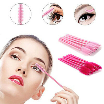 Beauty Disposable Mascara Wands Makeup Eyelash Brushes Spoolies Applicator LOT