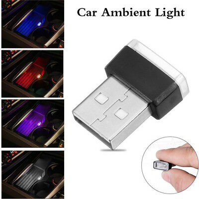 RGB Color USB LED Mini Wireless Car Interior Lighting Atmosphere Light Universal