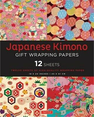 Japanese Kimono Gift Wrapping Papers: 12 Sheets of High-Quality 18 X 24 Inch Wra